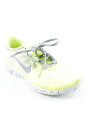 Nike Schnürsneaker neongelb-grau Casual-Look