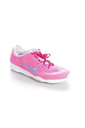 Nike Schnürsneaker neonpink-blauviolett sportlicher Stil