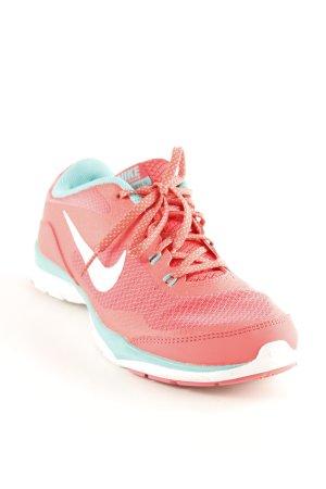 Nike Schnürsneaker neonrot-türkis sportlicher Stil