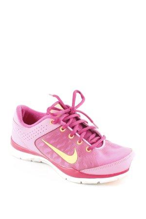 Nike Schnürsneaker pink-neonorange grafisches Muster sportlicher Stil