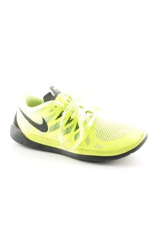 Nike Sneakers met veters zwart-limoen geel atletische stijl