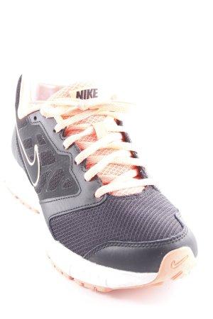 Nike Schnürsneaker schwarz-neonorange Casual-Look