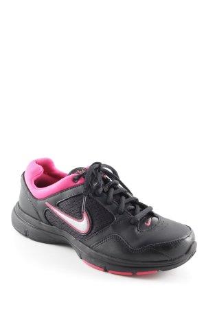 Nike Schnürsneaker schwarz-pink sportlicher Stil