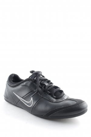 Nike Lace-Up Sneaker black-silver-colored casual look