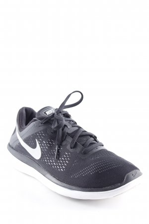 Nike Lace-Up Sneaker black-white graphic pattern athletic style
