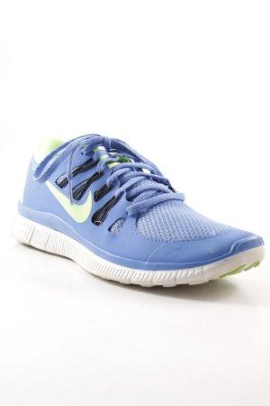 Nike Schnürsneaker stahlblau-neongrün sportlicher Stil