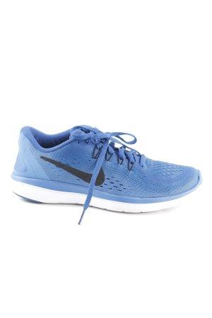 Nike Schnürsneaker stahlblau-schwarz sportlicher Stil
