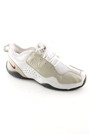 Nike Schnürsneaker weiß-goldfarben sportlicher Stil