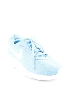 Nike Schnürsneaker weiß-neonblau sportlicher Stil