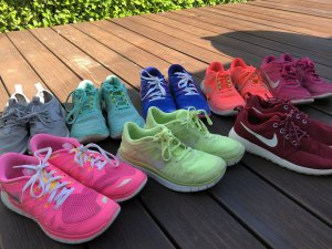 Nike Basket à lacet multicolore matériel synthétique