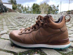 Nike High Top Sneaker brown-turquoise