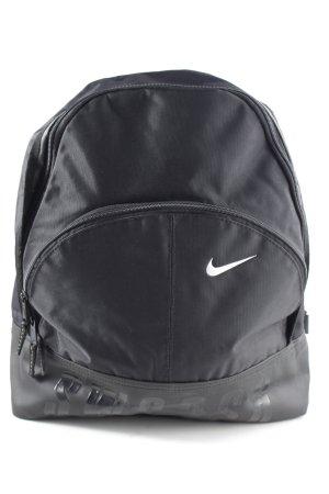 Nike Mochila escolar negro-blanco letras impresas look casual