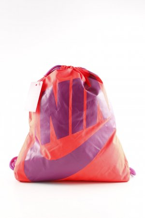 Nike Schoolrugzak rood-lila gedrukte letters casual uitstraling