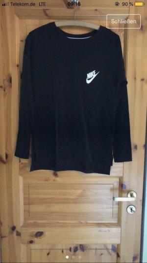 Nike Manica lunga nero-bianco