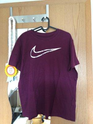 Nike T-shirt marrone-viola-argento