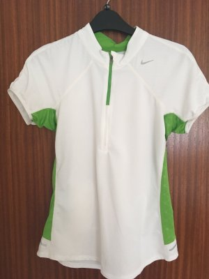 Nike Sports Shirt white-green polyester