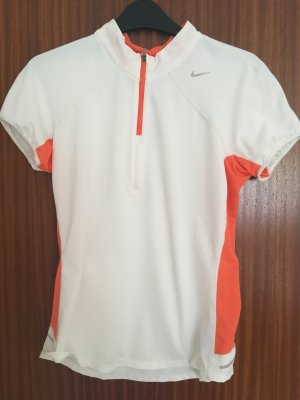 Nike Sports Shirt white-orange polyester
