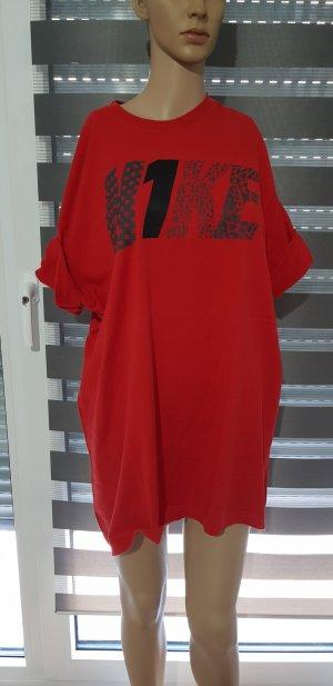 nike shirt rot mit print logo oversize oberteil vintage