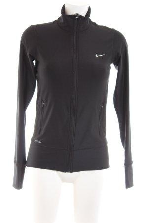 Nike Shirtjack zwart gedrukte letters casual uitstraling