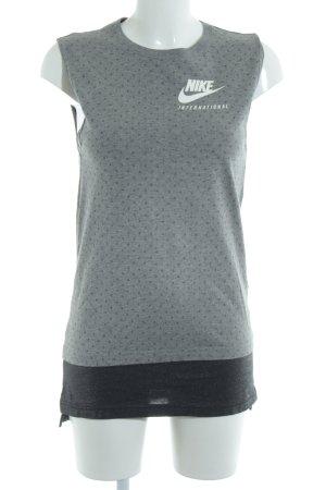 Nike Shirtkleid grau-dunkelgrau Punktemuster Urban-Look