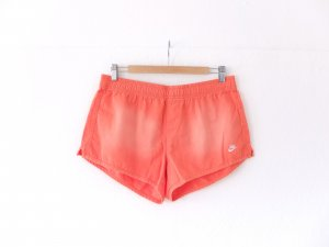 Nike Shorts Gr. M 38 40 orange coral used look distressed