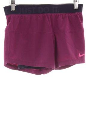 Nike Shorts violett-dunkelviolett sportlicher Stil