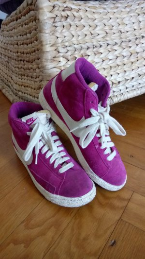 Nike High top sneaker violet Leer