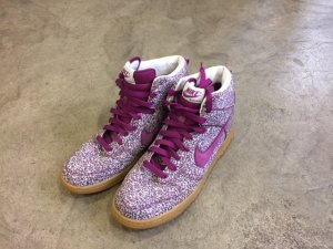 Nike Sneaker alta viola scuro-blu-viola Fibra tessile