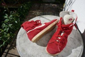 Nike Sneaker alta rosso scuro Scamosciato