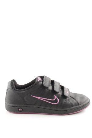 Nike Sneaker Klettverschluss schwarz-pink sportlicher Stil