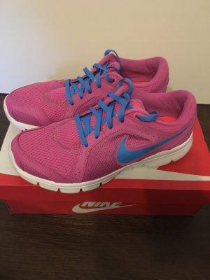 Nike Sneaker Pink-blau-weiß in sehr gutem Zustand