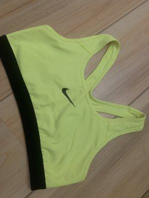 Nike Canotta sportiva nero-giallo neon