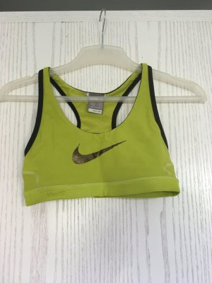 Nike Sport-BH gelb-grün XS