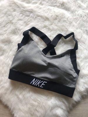 Nike Reggiseno nero-grigio