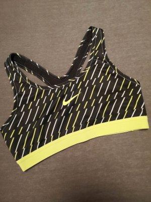 Nike Sport-BH – Schwarz mit Streifen u. Logo
