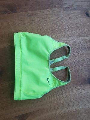 NIKE Sport Bra/Top in aktueller Neonfarbe