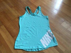 Nike Sport Top Türkis in M