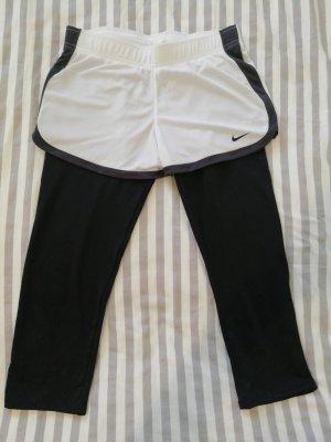 Nike Pantalone da ginnastica bianco-nero Poliestere