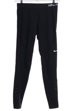 Nike Sporthose schwarz-weiß Schriftzug gedruckt Casual-Look