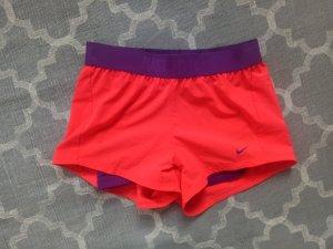 Nike Sporthose Laufhose Shorts Laufshorts S M 36 38 Neon Lila Orange