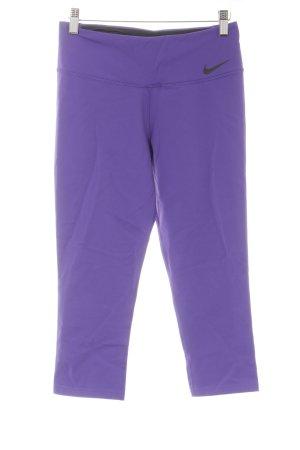 Nike Pantalon de sport violet-noir style athlétique