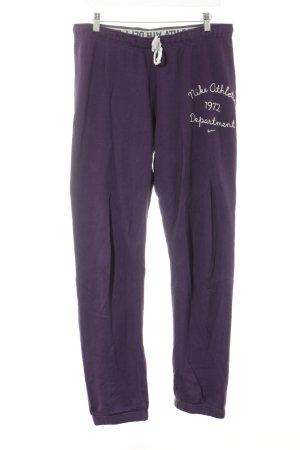 Nike Pantalon de sport violet style athlétique