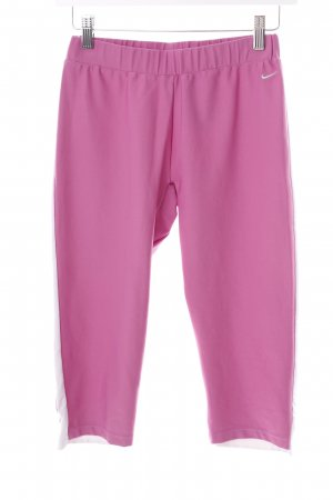 Nike pantalonera rosa-blanco estilo deportivo