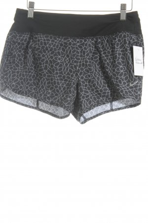 Nike Sporthose schwarz-grau abstraktes Muster sportlicher Stil