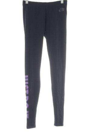 Nike Sporthose schwarz-lila Casual-Look