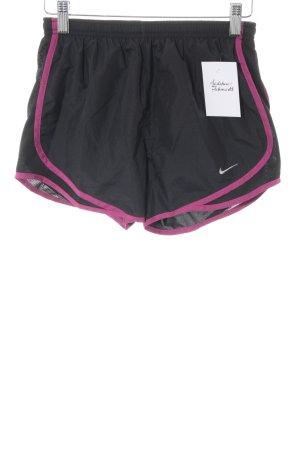 Nike Sporthose schwarz-violett Casual-Look
