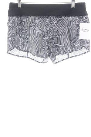 Nike Pantalon de sport noir-blanc motif rayé style athlétique