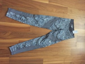 Nike 7/8 Length Trousers silver-colored-white mixture fibre