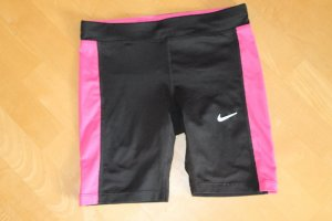 Nike Sportshort zwart-roze Gemengd weefsel