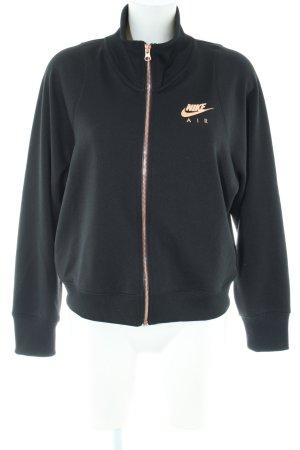 Nike Veste de sport noir-doré style décontracté